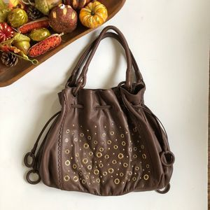 ISABELLA FIORE Studded Leather Hobo